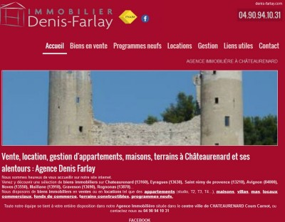 Agence immobilière Chateaurenard Denis Farlay
